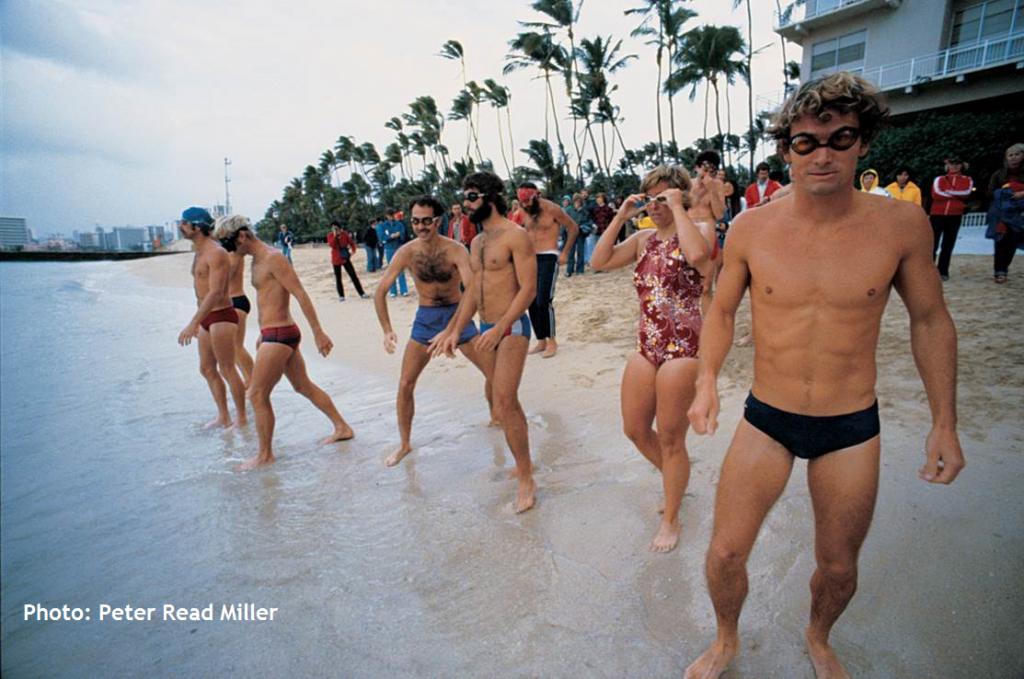 The start of the second-ever Ironman Triathlon on Sans Souci Beach on Oahu, February 1979. Photo by Peter Read Miller