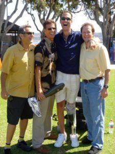 Bob Babbitt, Rick Kozlowski, Jim MacLaren, and Jeffrey Essakow at La Jolla Cove