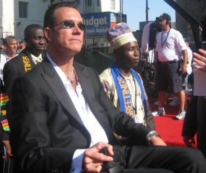 Jim MacLaren and Emmanuel Yeboah on the red carpet at the ESPYs before they received the Arthur Ashe Courage Award in 2005.